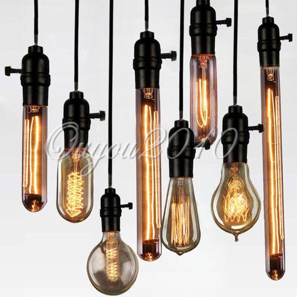 40W 60W Vintage Gluhlampe Gluhbirne Lampe Retro Antik Edison Nostalgie Messing
