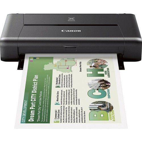 Canon - PIXMA iP110 Wireless Printer - Black - Front Zoom