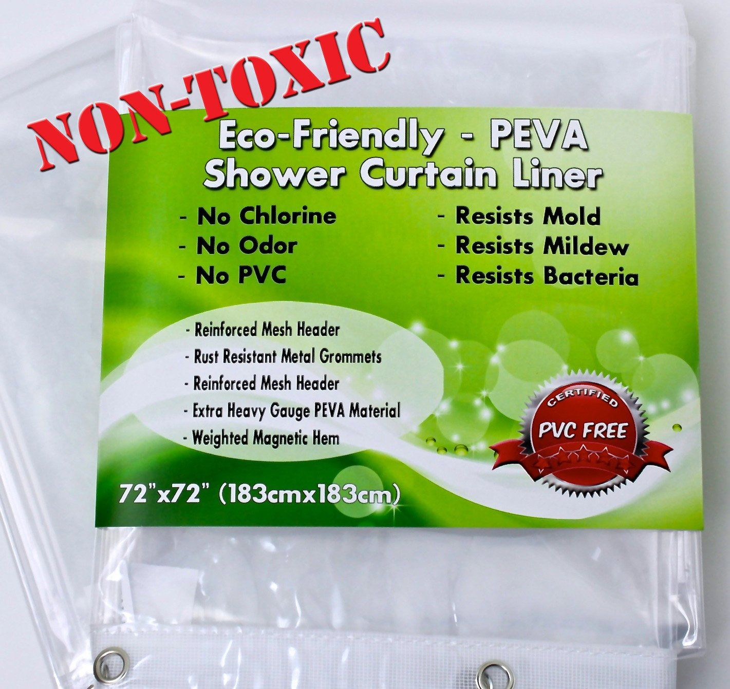 Premium Peva Shower Curtain Liner Non Toxic Environmentally