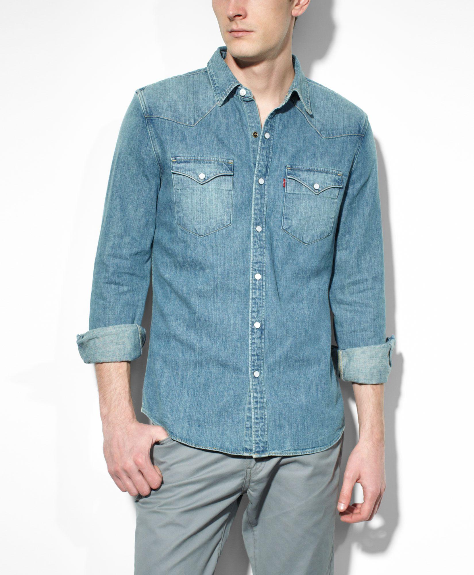 7a3af04b8cb Barstow Western Shirt - Stonewash Denim - Western Shirts  Levis  68 ...