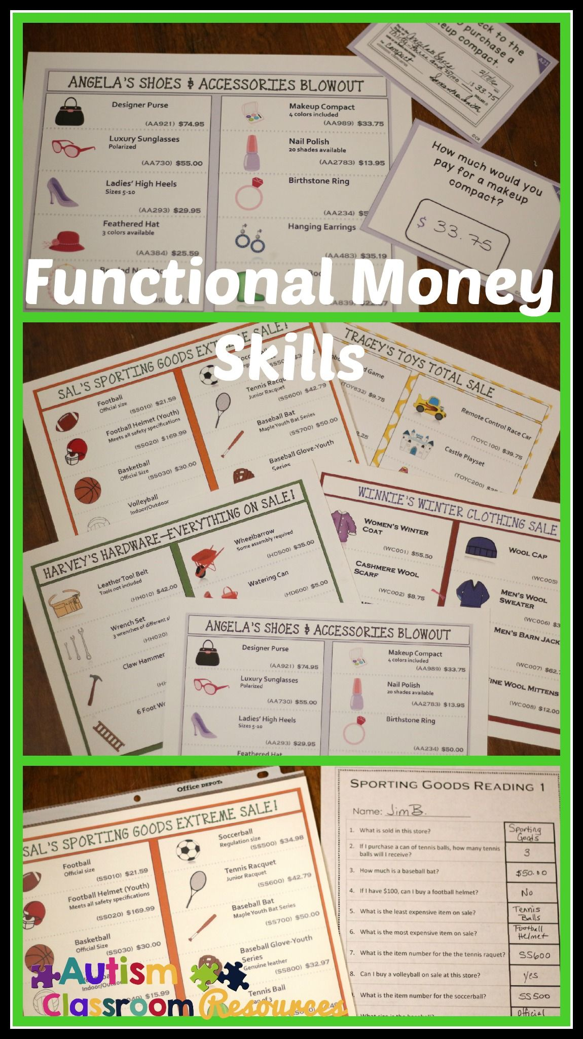 Economics Of Shopping Functional Literacy And Math Bundle