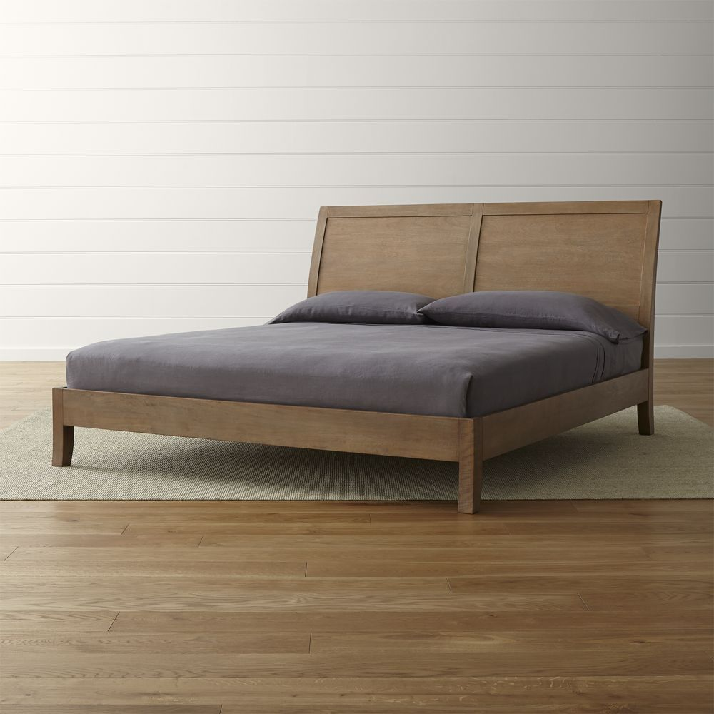 Dawson grey wash king sleigh bed crate and barrel