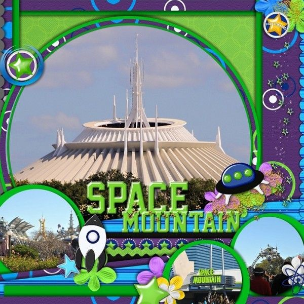 Space Mountain..love the colors and circles
