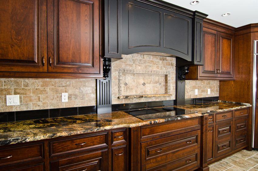 Magma Gold Granite | Granite/Quartze/Marble | Black ... on Black Granite Countertops With Brown Cabinets  id=82448