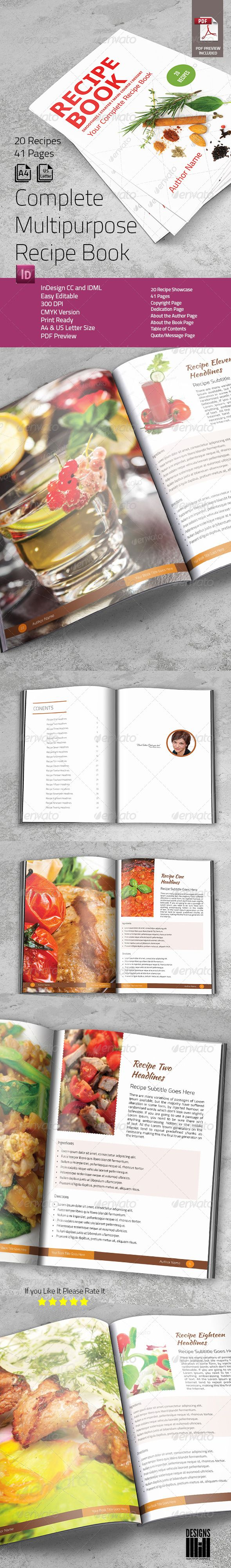 Complete Recipe Book Informational Brochures Complete Recipe