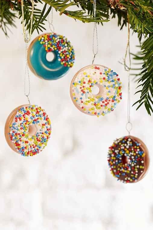 Donut Ornament Set Donut Ornament Ornament Set Cool Christmas Trees