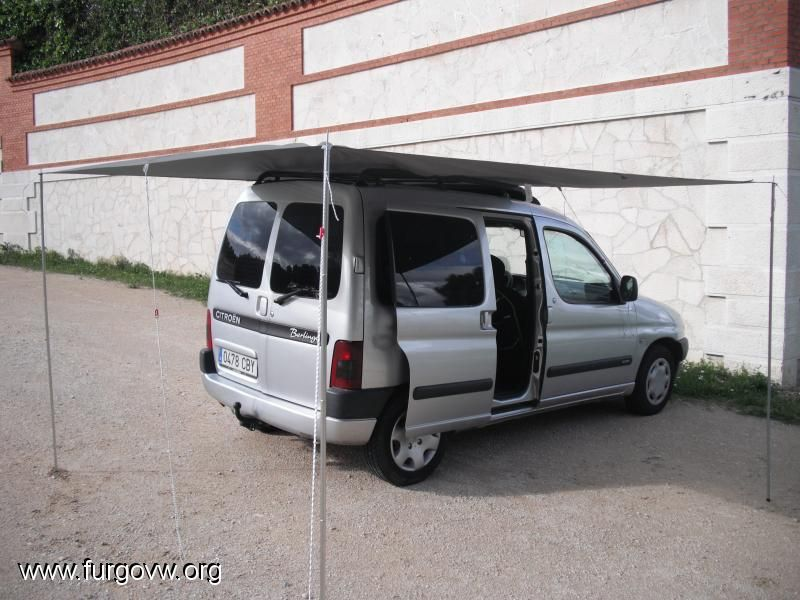 tarp canopy bed for minicamper berlingo kangoo caddy. Black Bedroom Furniture Sets. Home Design Ideas
