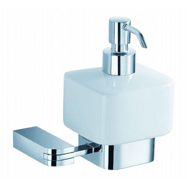 Fresca Solido Chrome Lotion Dispenser, White (Brass)