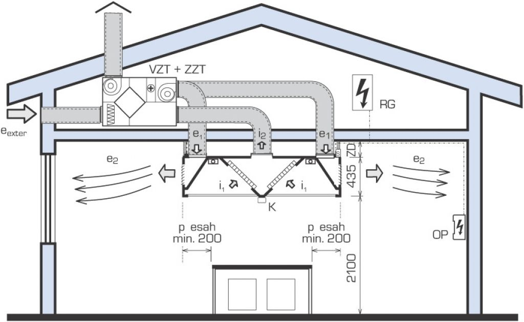 commercial kitchen exhaust system design. Island canopy with double bank of grease filters and recessed light  fittings for a hospital kitchen Commercial Kitchen Ventilation Pinterest