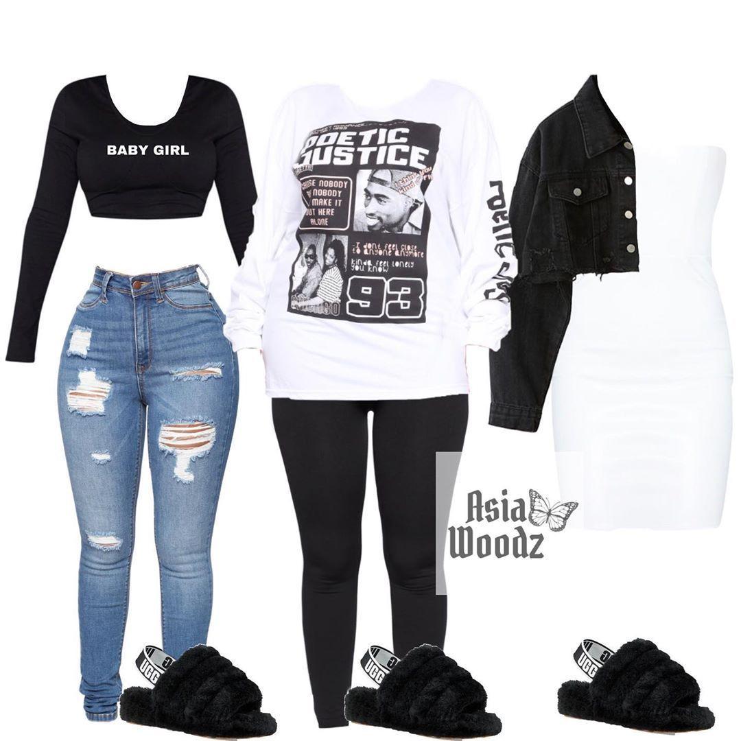 Black Ugg Slides Outfit Ideas - Black
