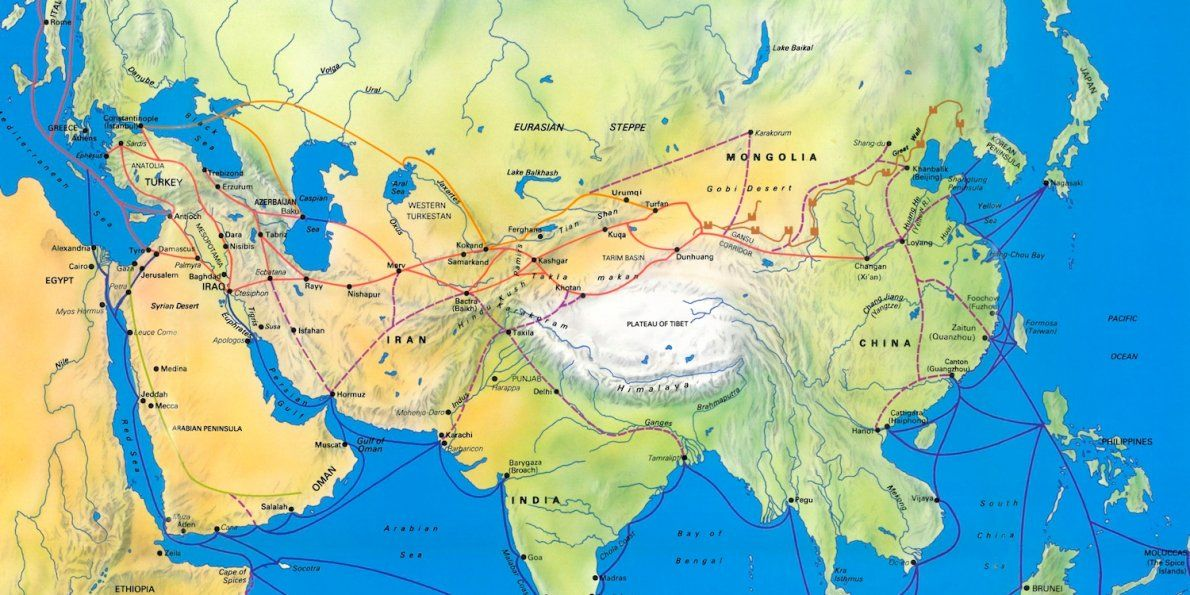 what did persia trade on the silk road