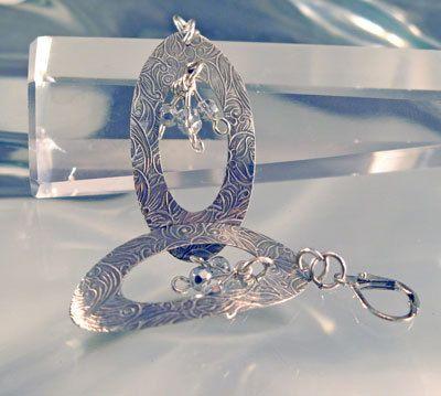Sterling Floral Embossed Earrings