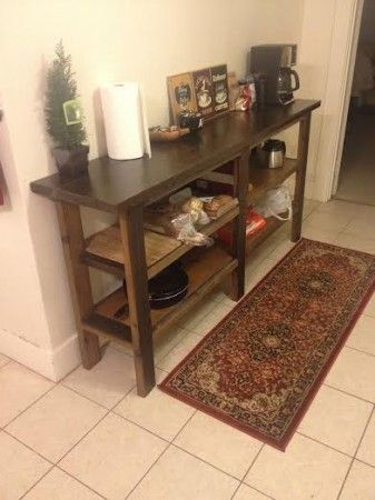 Rustic Console/Kitchen bar | Do It Yourself Home Projects from Ana White