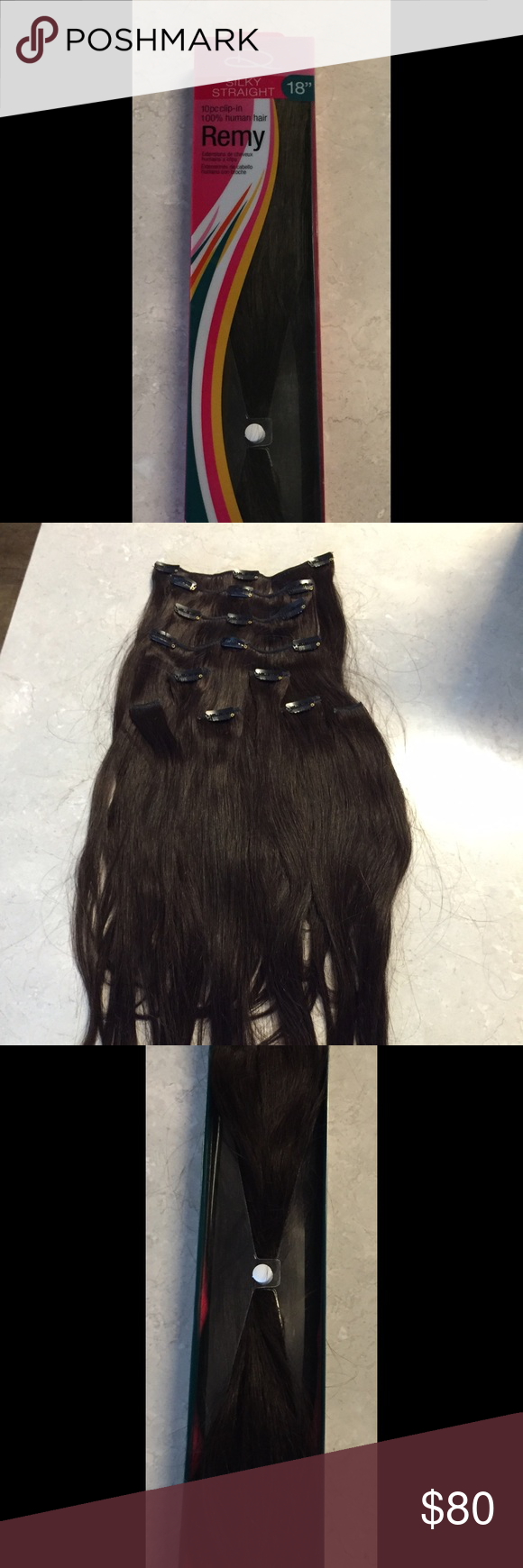 Design Lengths Remy 18 Human Hair Extensions Silky Straight 100