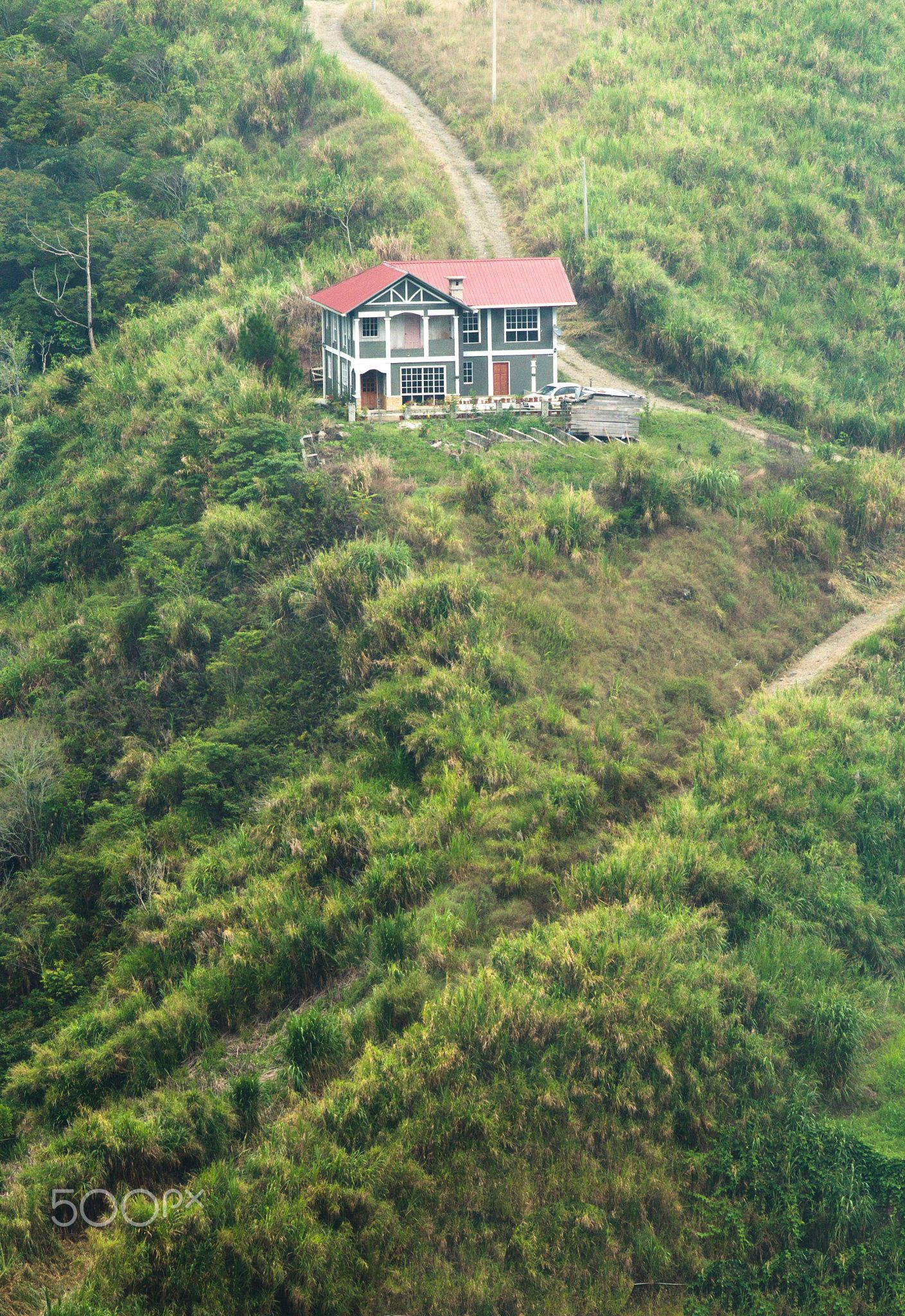 Lone House On The Hill House Exterior Hills