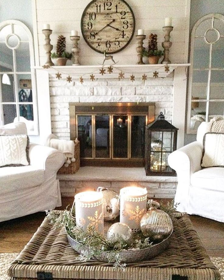 French Country Cottage Living Room: Image Result For Great Room With Fireplace Farmhouse