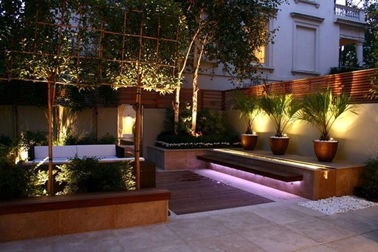 Jardín iluminado Casas Pinterest Jardín, Iluminación y Terrazas