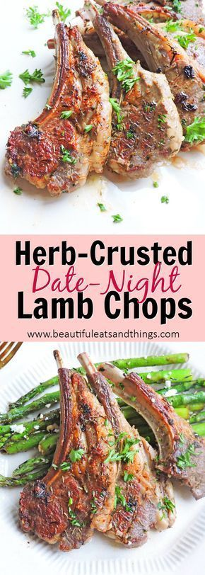 Date Night Herb Crusted Lamb Chops images