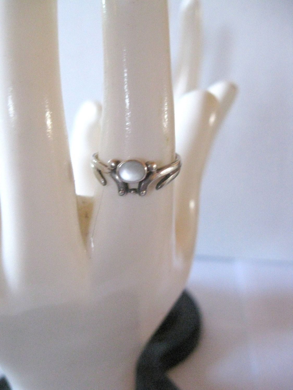 Vintage Moonstone, .925 Sterling Silver, Ring, Size 5.5. $20.00, via Etsy.