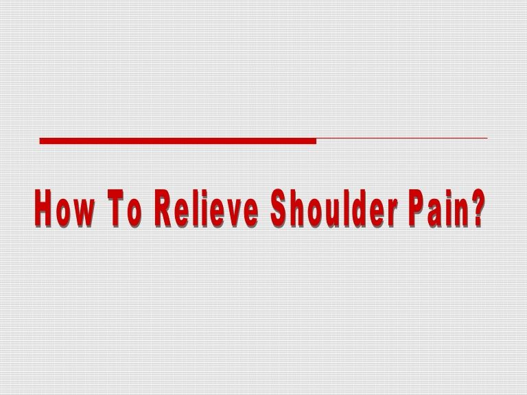 Are you experiencing shoulder pain and are currently snowed in from the latest storm? Here's some helpful tips you can use to possibly relive it!