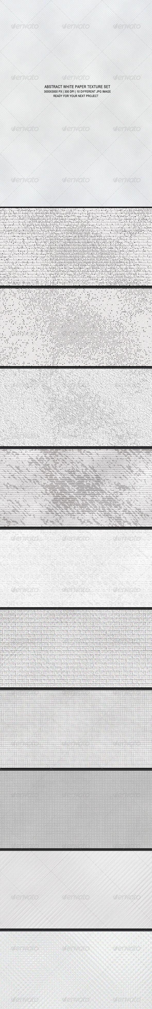 Abstract White Paper Texture Set  White Paper Presentation