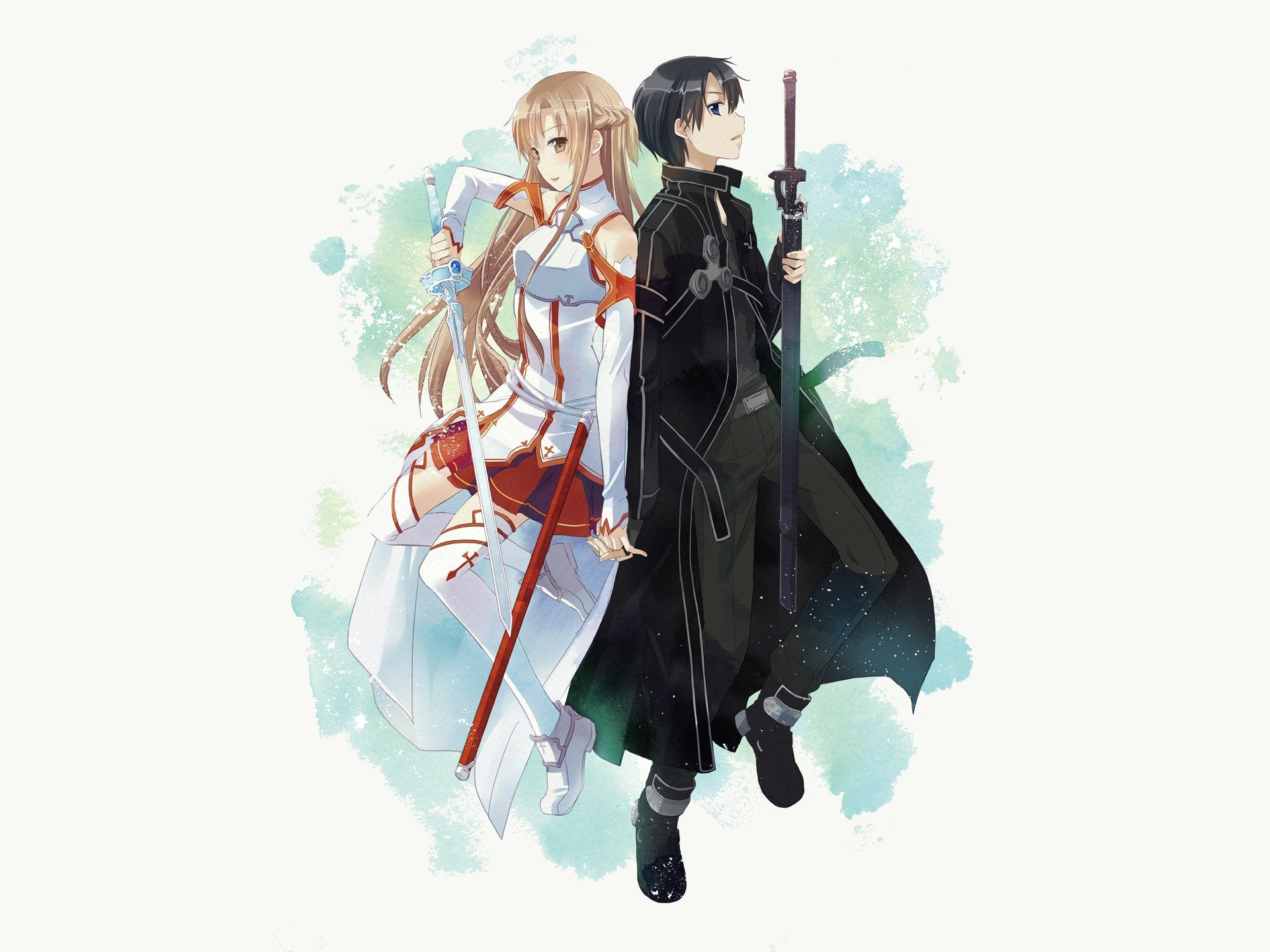 Asuna and Kirito HD Sword Art Online Wallpaper Virtual