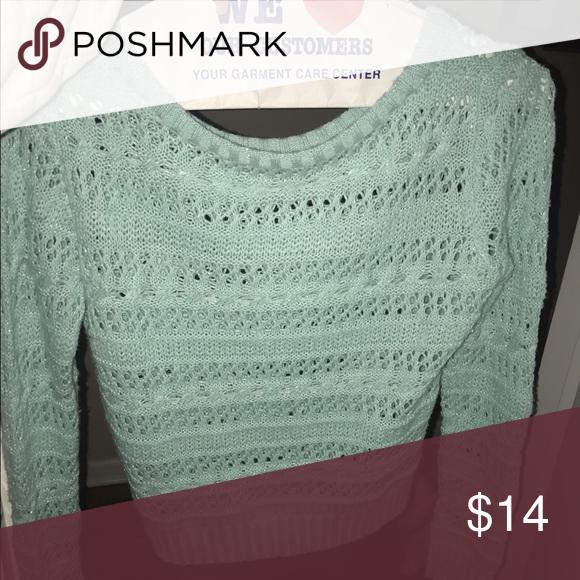 Sweater Cute comfy blue sweater Sweaters Crew & Scoop Necks
