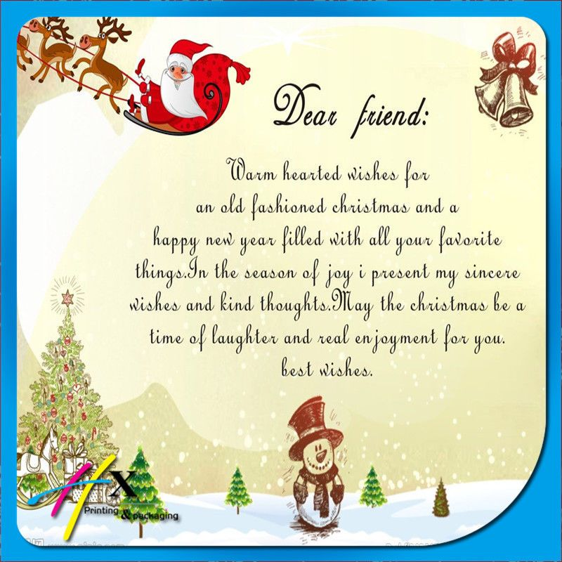 Dear Friend, Warm wishes for an Old Fashion Christmas