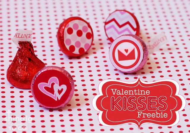FREE Valentines Hershey Kiss Printables and Treat Bag Topper