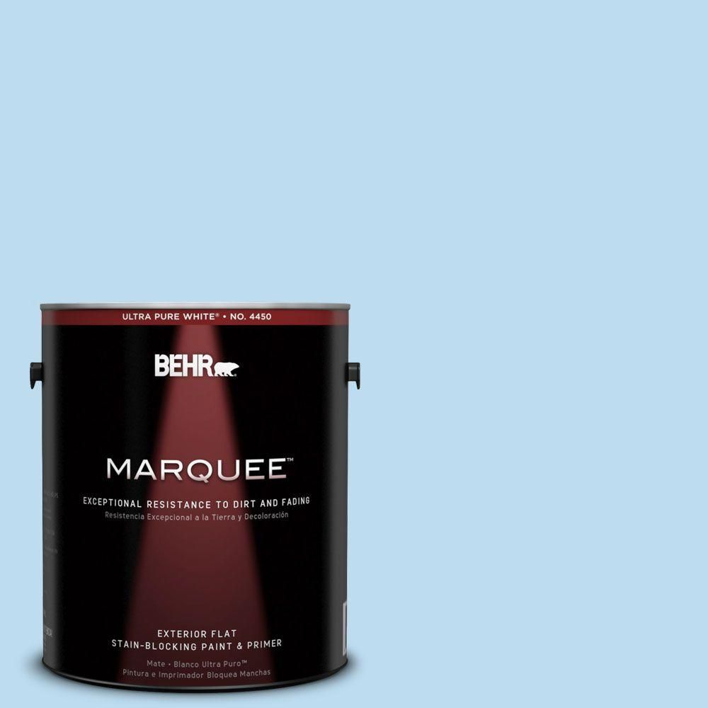 BEHR MARQUEE 1-gal. #550A-2 Tropical Pool Flat Exterior Paint