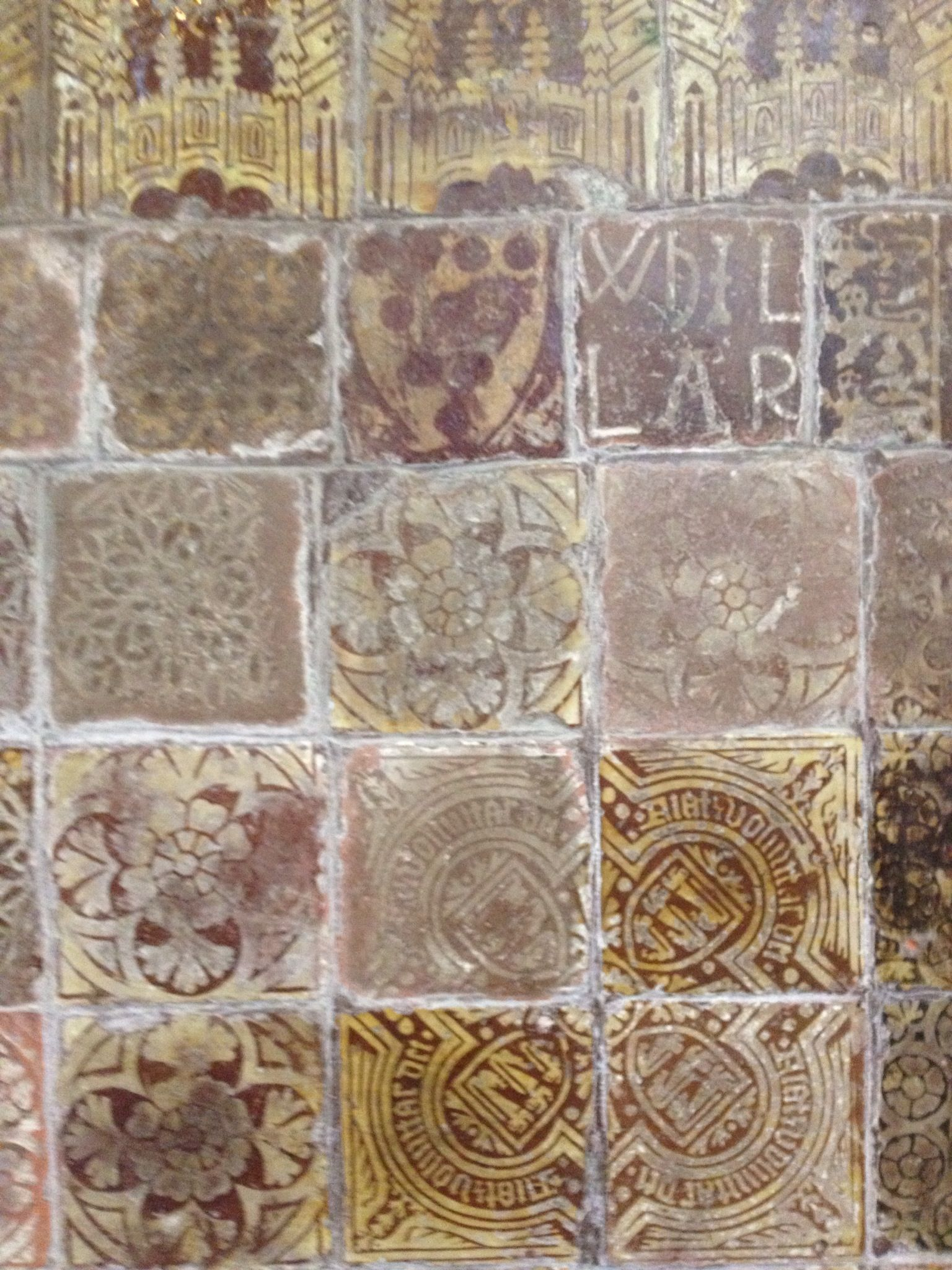 Medieval Tiles In Great Malvern Priory These Were Floor