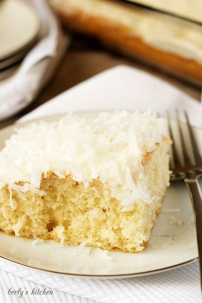 Super Simple Coconut Cake Recipe French vanilla cake French