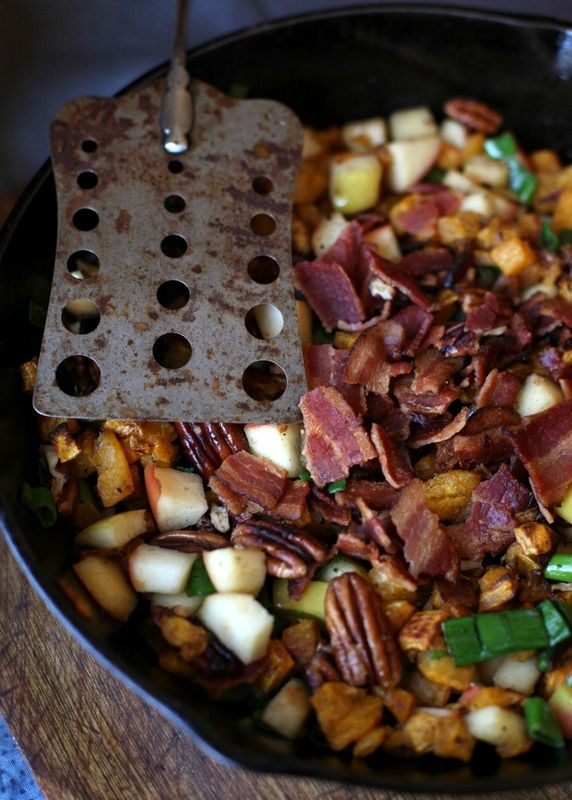 The Urban Poser:: Apple, Pecan & Bacon Butternut Squash Hash