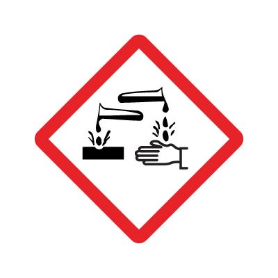 GHS 05 faresymbol - Etsende - Flere varianter   Piktogram ...