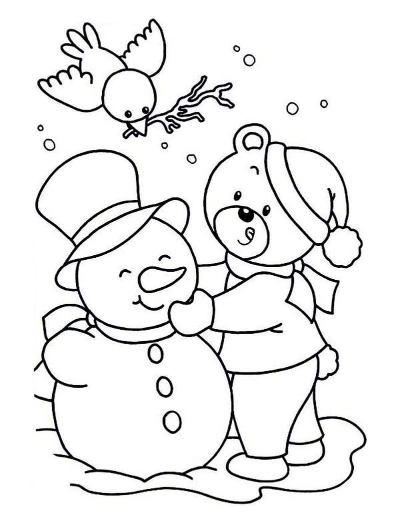 Dltk Snowman Coloring Pages  Snowman coloring pages, Coloring