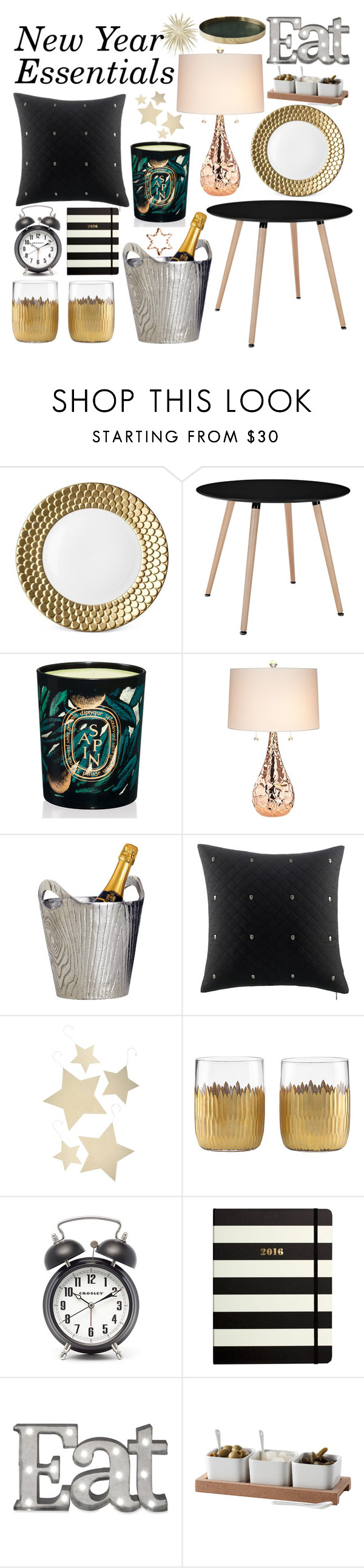 """""""New Year Home Decor Essentials"""" by jessica-hearts ❤ liked on Polyvore featuring interior, interiors, interior design, home, home decor, interior decorating, L'Objet, Diptyque, Kathy Ireland and Dot & Bo"""
