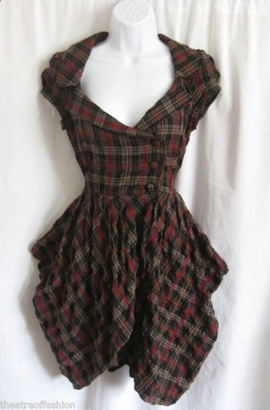 TARTAN DRESS STEAMPUNK for sale on eBay | Стимпанк в 2019 ... Тартан Платье