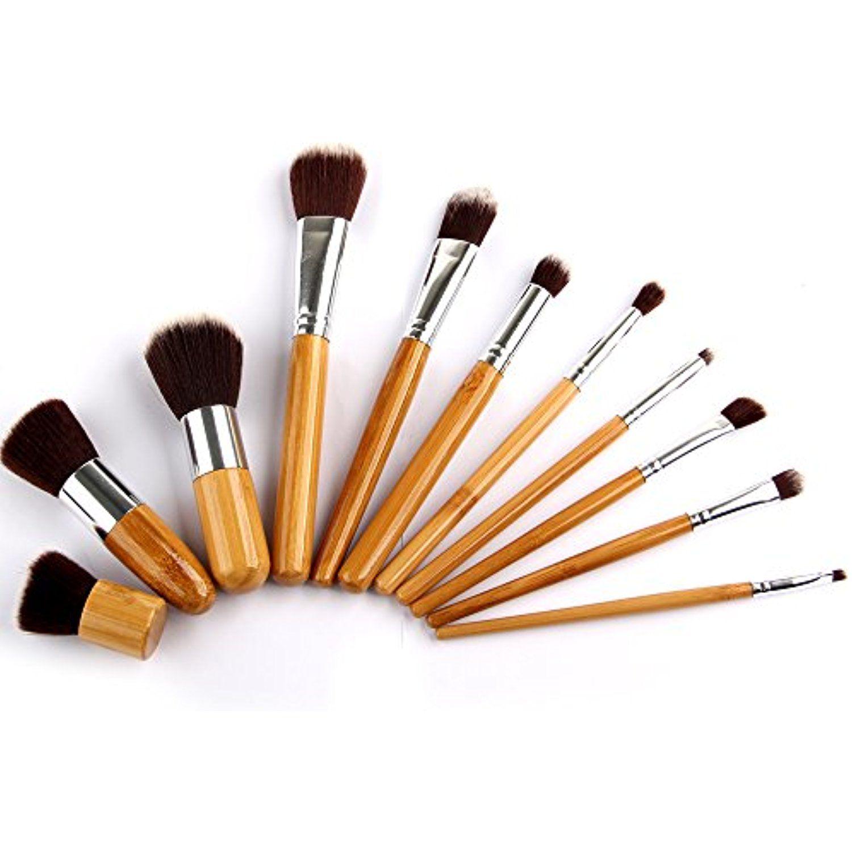 Youngman 11 Pcs Bamboo Handle Make up Brush Foundation