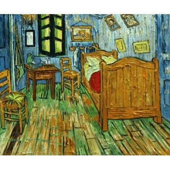 schlafzimmer bei arles van gogh ber hmte gem lde reproduktionen ber hmte gem lde pinterest. Black Bedroom Furniture Sets. Home Design Ideas