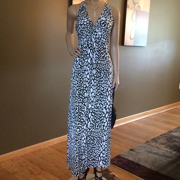 Chaus Black/White Halter Maxi Dress Great Condition ❤️ OFFERS AND BUNDLES Dresses Maxi