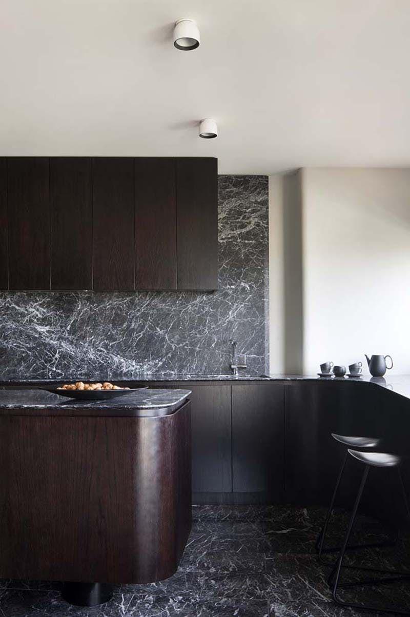Kitchen Design Black Marble is the New White Marble  Kitchen