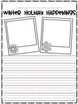 Winter Holiday Recount Writing Template FREEBIE | Educational ...