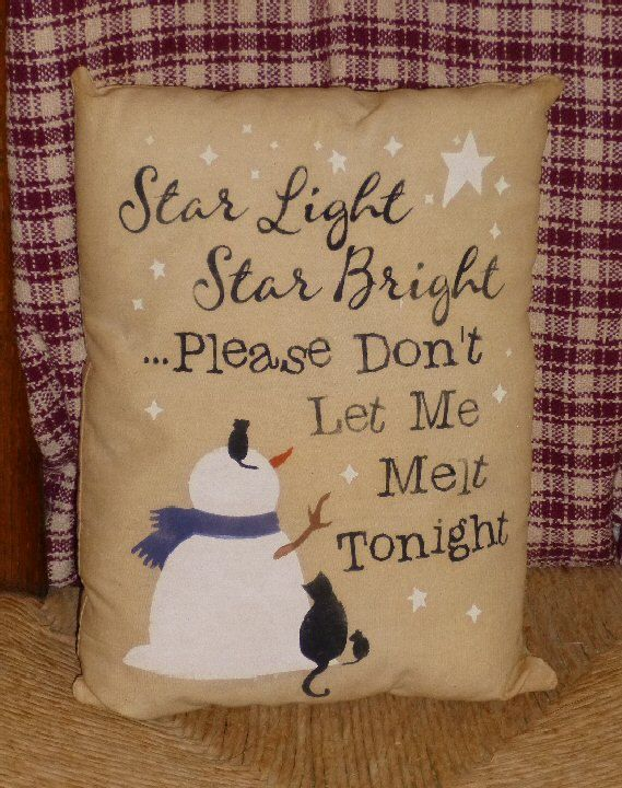 Star Light Star Bright Snowman Cat Mouse Country Primitive Christmas ...