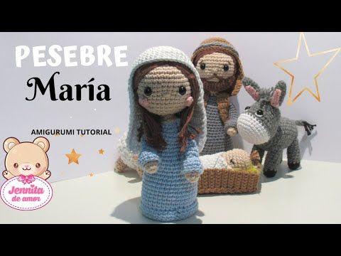 PESEBRE MARIA Tutorial Amigurumi (Patrón en Descripción) - YouTube