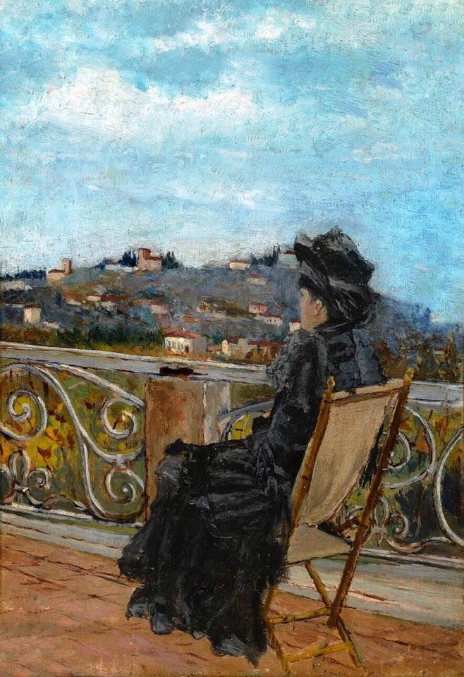 Ulvi Liegi Livorno 1858 1939 Terrazza Al Pian Dei