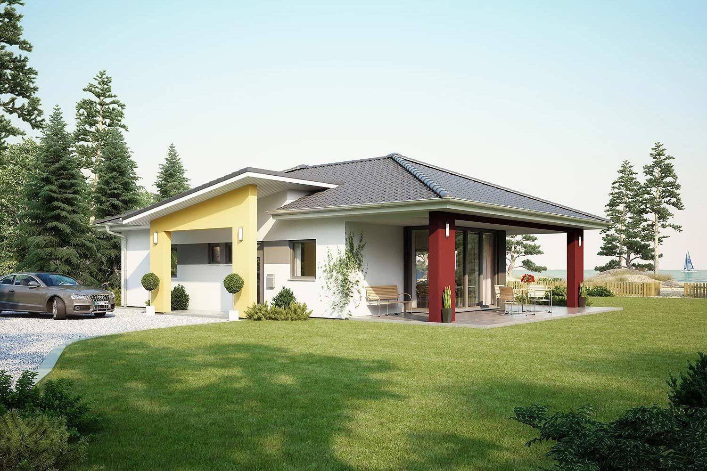 Fertighaus architektenhaus comfort bungalow mit pultdach - Fertighaus architektenhaus ...