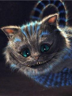 Download 3d Ghost Cat Face Mobile Wallpaper Mobile Wallpapers Mobile Cheshire Cat Alice In Wonderland Alice In Wonderland Characters Cheshire Cat Wallpaper