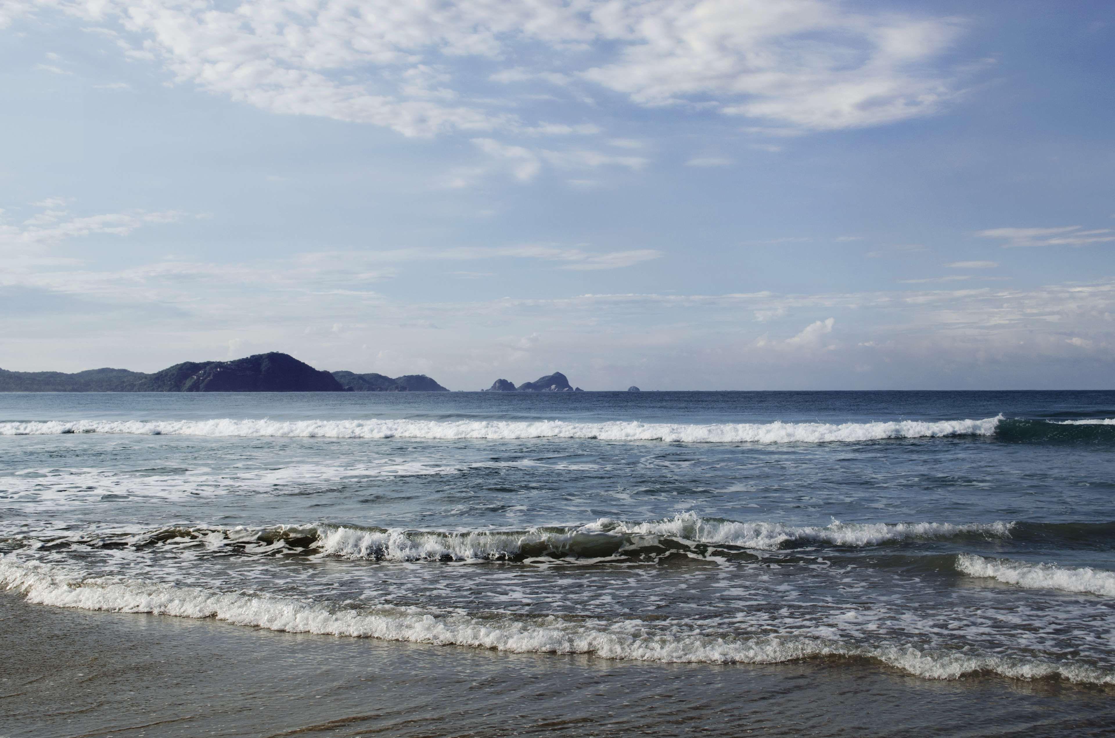 beach blue cielo clouds jalisco la manzanilla