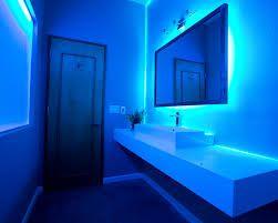 Beautiful Showers Blue Led Light Designs Google Search Bathroom Design Amazing Bathrooms Led Bathroom Lights