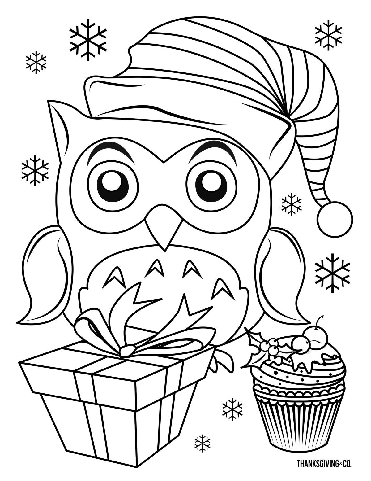 5 Christmas Coloring Pages Your Kids Will Love Coruja Para